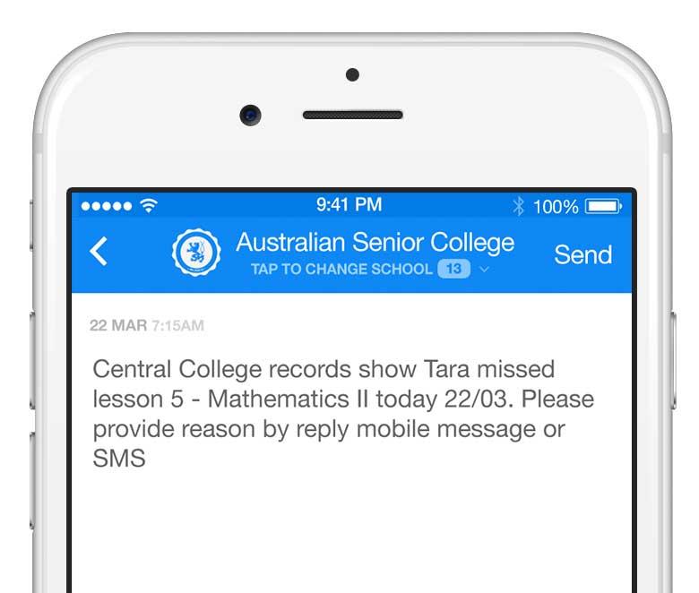 sms attendance management